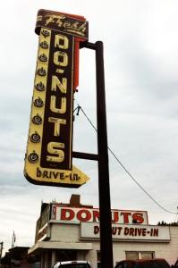 My grandpa's fave, Donut Drive-In.  http://hellostl.com/?p=228